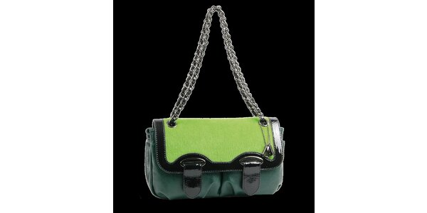Dámská tmavě zelená kabelka Bulaggi s řetízkem
