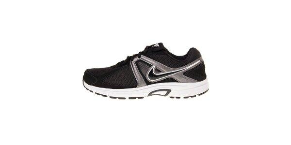 Pánské černé běžecké boty Nike Dart 9 se stříbrnými detaily