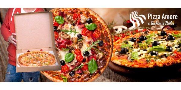 2 libovolné pizzy s rozvozem zdarma