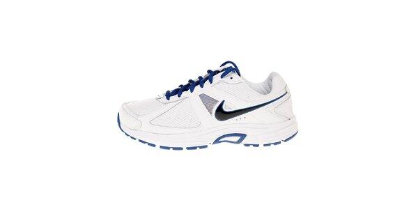 Pánské bílé běžecké boty Nike Dart 9 s modrými detaily