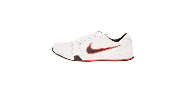 Pánské bílé tenisky Nike Circuit s černo-červenými detaily
