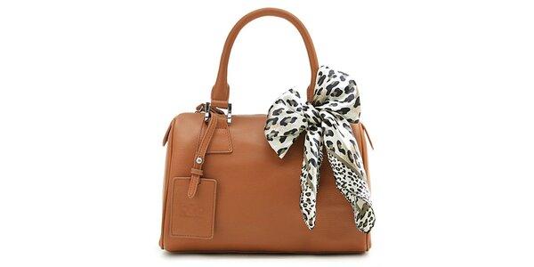 Hnědá kufřiková kabelka Belle&Bloom