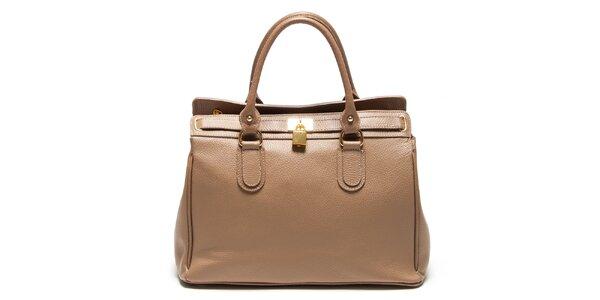 Dámská béžová kabelka se zámečkem Renata Corsi