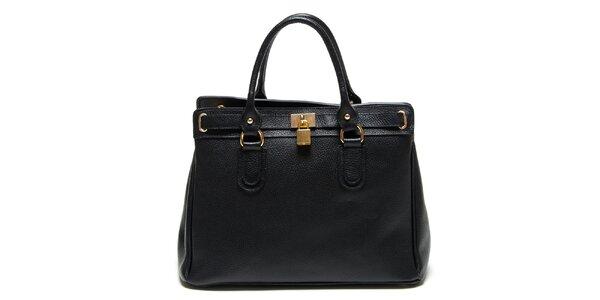 Dámská černá kabelka se zámečkem Renata Corsi