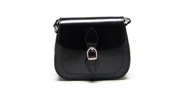 Dámská černá zaoblená kabelka Renata Corsi