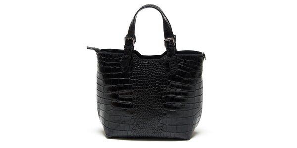 Dámská černá krokodýlí kabelka Renata Corsi