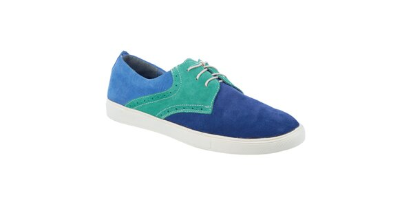 Pánské modro-zelené boty Tesoro