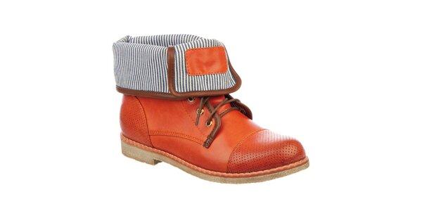 Dámské kotníčkové boty v cihlové barvě Betsy