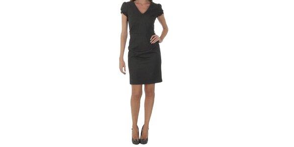 Dámské černošedé šaty Naf Naf