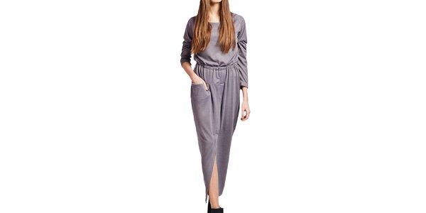 Dámské dlouhé šedé šaty Lanti