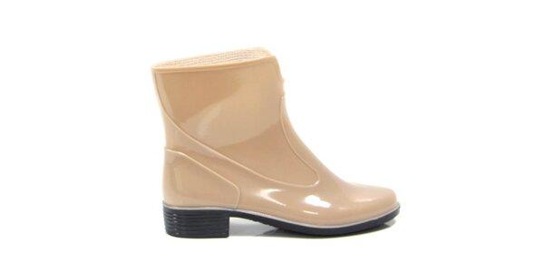 Dámské béžové kotníkové boty Favolla