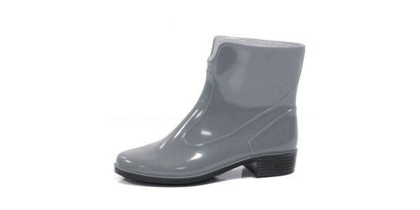 Dámské šedé kotníkové boty Favolla