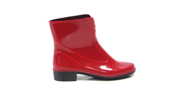 Dámské červené kotníkové boty Favolla