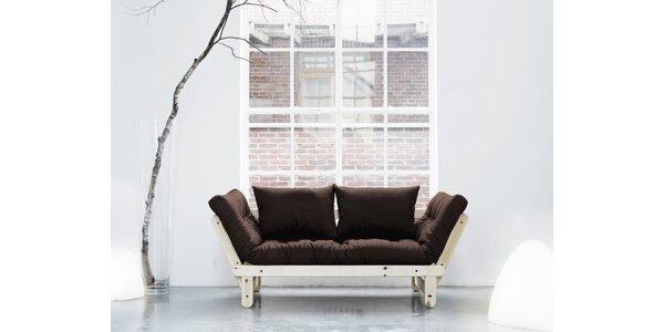 Rozkládací sofa KARUP BEAT PINE/BROWN
