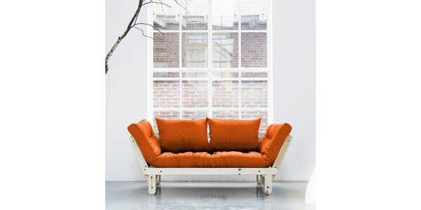 Rozkládací sofa KARUP BEAT PINE/ORANGE