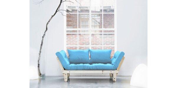 Rozkládací sofa KARUP BEAT PINE/CELESTE