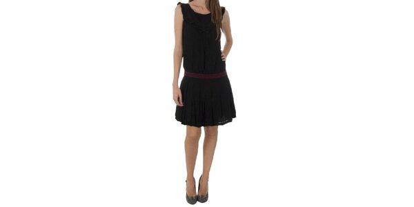 Dámské černé šaty Naf Naf s mašlí