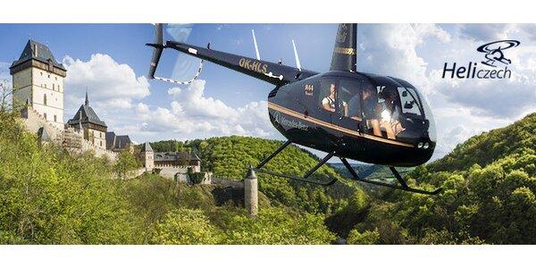 Vyhlídkový let vrtulníkem nad Prahou nebo Karlštejnem
