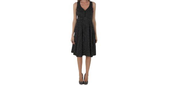 Dámské černé puntíkované šaty Naf Naf