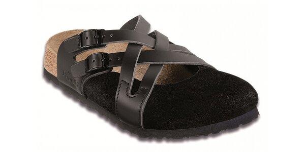Dámské černé pantofle Papillio