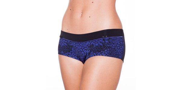 Dámské modročerné kalhotky Wonderbra s leopardím vzorem