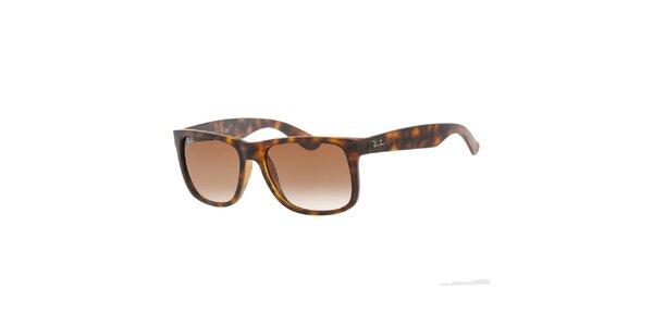 Žíhané sluneční brýle s plastovými obroučkami Ray-Ban