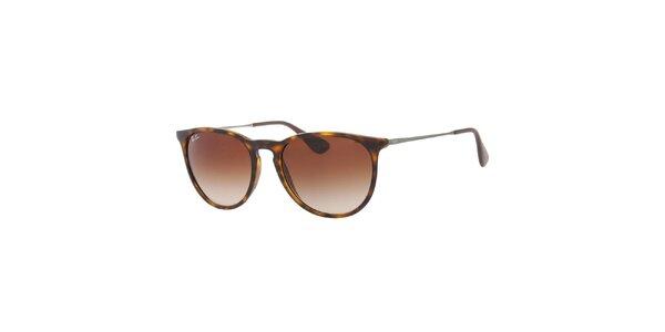 Žíhané sluneční brýle s kovovými stranicemi Ray-Ban