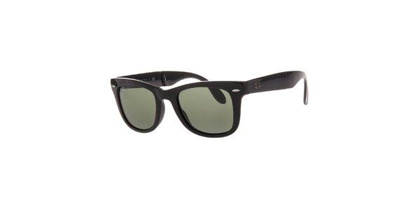 Oválné sluneční brýle v černé barvě Ray-Ban