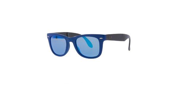 Skládací sluneční brýle v modré barvě Ray-Ban