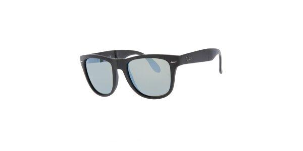 Skáladací antracitové sluneční brýle Ray-Ban