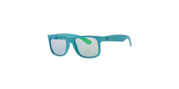 Dámské tyrkysové sluneční plastové brýle Ray-Ban