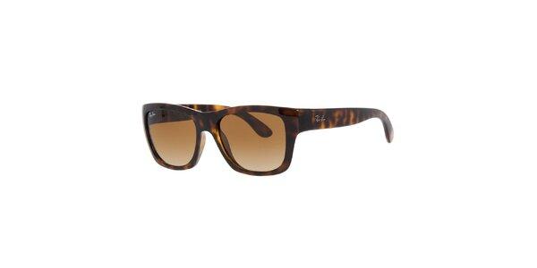 Hnědé sluneční brýle Ray-Ban s hnědými skly a žíháním