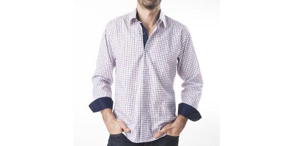 Pánská károvaná košile s dlouhým rukávem Lexa Slater
