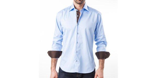 Pánská modrá košile s dlouhým rukávem Lexa Slater