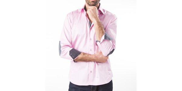 Pánská růžová košile s dlouhým rukávem Lexa Slater