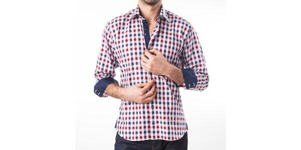 Pánská modro-červeno-bíle kostkovaná košile Lexa Slater