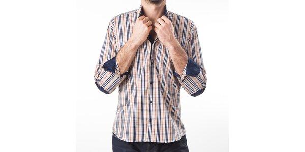 Pánská béžová košile s kostičkami Lexa Slater