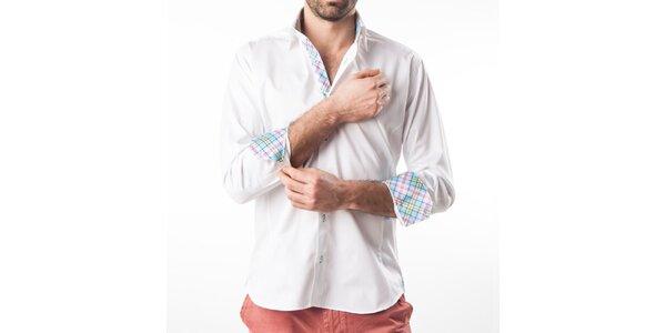 Pánská bílá košile s kontrastními prvky Lexa Slater