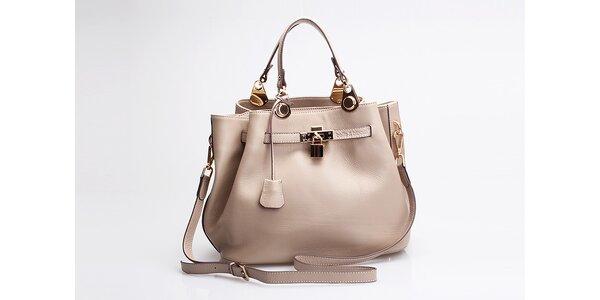 Kožená kabelka Belle & Bloom vrežné barvě
