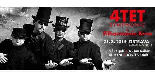 Koncert 4TET – Symphonic: 4TET a Filharmonie Brno