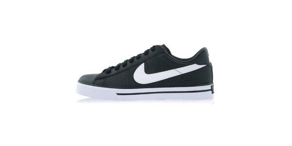 Pánské černé tenisky s bílým logem Nike