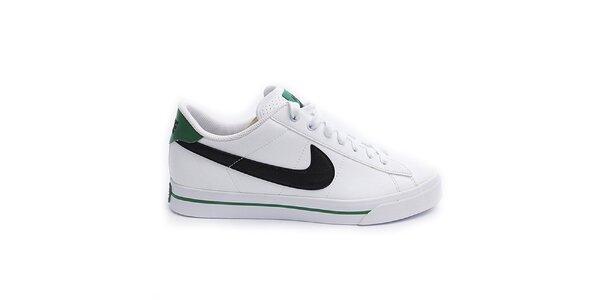 Dámské bílé tenisky se zelenými prvky Nike