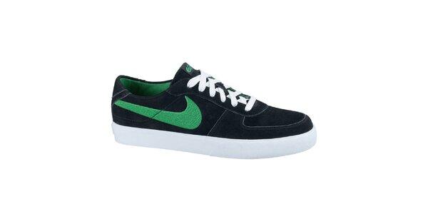 Pánské kožené tenisky v černé barvě Nike