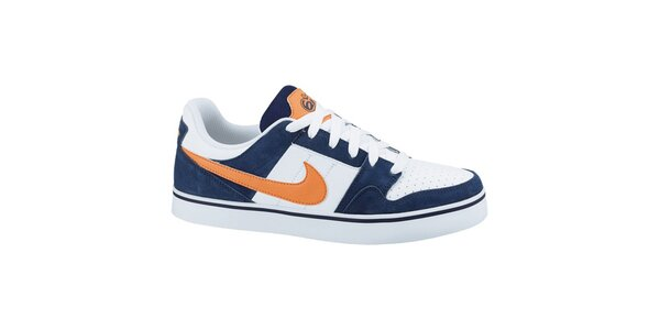 Pánské bílo-modro-oranžové tenisky Nike