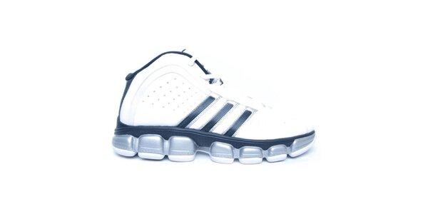 Pánské černo-bílo-stříbrné boty Adidas