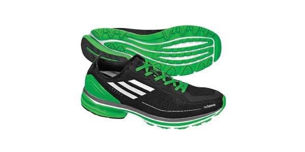 Pánské černo-zelené boty na běhání Adidas