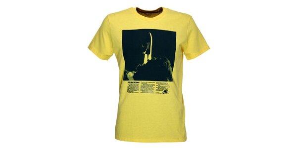Pánské žluté tričko s potiskem Nike