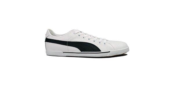 Pánské bílé tenisky Puma s pruhem
