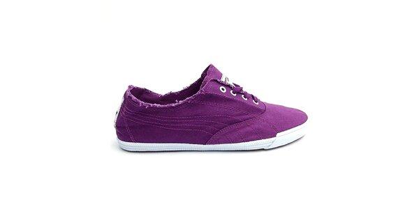 Dámské plátěné fialové boty Puma