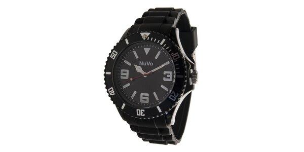 Černé analogové hodinky NuVo